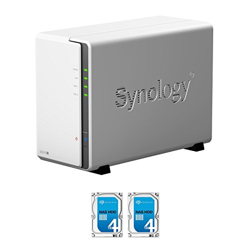 Synology DS216J 2-Bay NAS, 2x4TB (8TB) Seagate IronWolf NAS HDD Installed, RAID 1 Mirror Built, EV-DS216J8N, w/ evodo All-Systems-Go by evodo