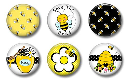 Bee Magnets - Set of Six 1.75