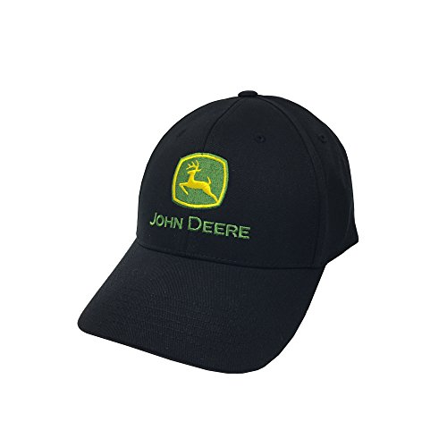 - John Deere Memory-Fit One-Size Fitted Hat (Black)