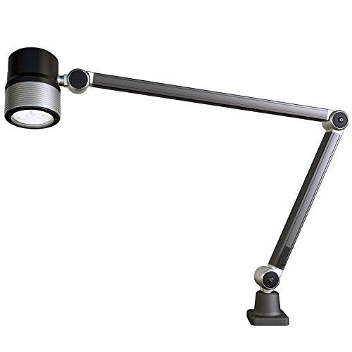 Waldmann Lighting ROCIA.focus 113182000-00680110 Waterproof Industrial LED Machine Spot Work Light with 10 Deg. Beam Angle and Articulating Arm, Ideal For CNC Machines, Lathes and Work Benches by Waldmann Lighting