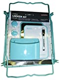 LockerMate 7-Piece Locker Kit, Wire Stac-A-Shelf, Dry Erase Board & Marker, Magnetic Cup, Magnetic Mirror, 2 Magnets School Supplies (Teal)