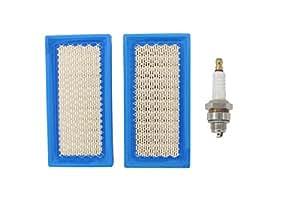 MOTOKU Filtro de aire con enchufe de chispa generador para sustituye a Briggs & Stratton 6916434195496077Stens 102–230Generac 06916431691643691643John Deere am34093