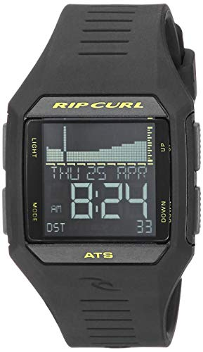 Rip Curl Men's Quartz Sport Watch with Polyurethane Strap, Black, 25 (Model: A1124MLI1SZ)