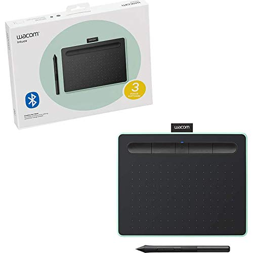 Wacom UCTL4100WLE0 Intuos Creative Pen Tablet with Bluetooth Small, Pistachio (Renewed)