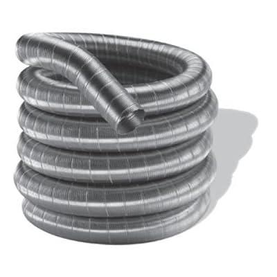 """DuraVent 4DF316-20 4"""" Inner Diameter - DuraFlexSS 316 Flexible Liner Chimney Pip, Stainless Steel"""