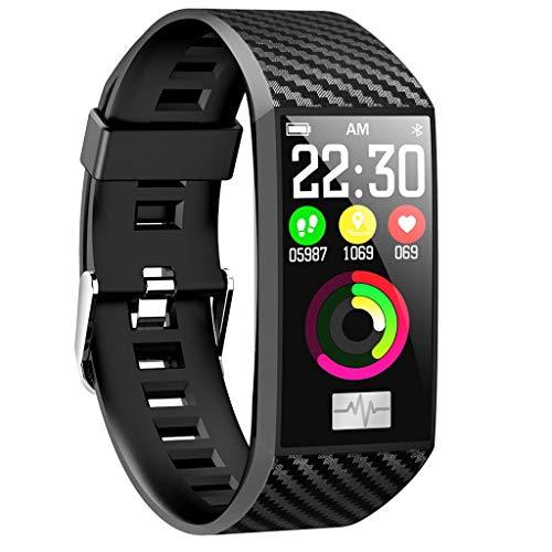 (vmree DT58 Bluetooth ECG Heart Rate Blood Pressure Monitor Sport Smart Watch Pedometer (Black, 10mmx248mm))