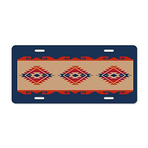 Aoxiananclicensecover Custom License Plate for Cars - Aluminum Novelty License Plate 4 Holes 12 x 6 Inch - Daryl's Poncho ()