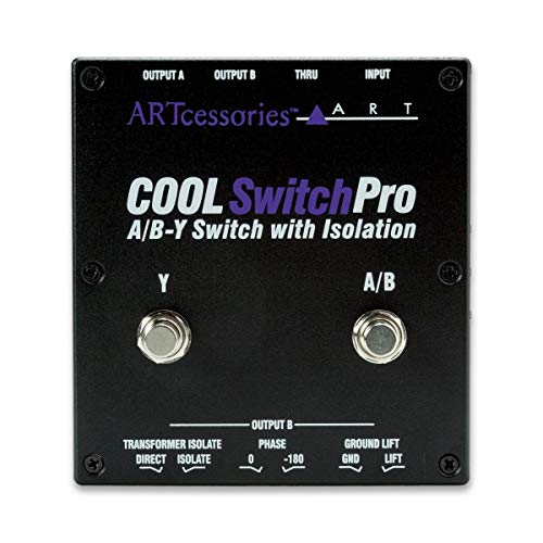 Guitar Switcher Pedal Amp (ART CoolSwitchPro Isolated A/B-Y Switch Instrument Pedal with Footswitch)