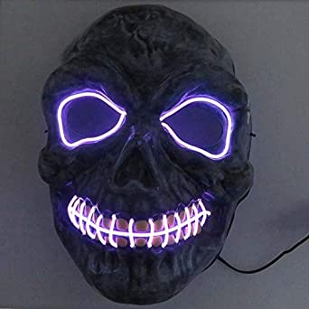 Amazon.com: Halloween Mask Neon Masks Halloween Scary Skull ...