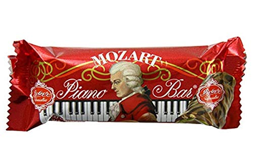 Chocolate Covered Nougat Marzipan - Reber Mozart Piano Bar Candy Snacks 1.6oz