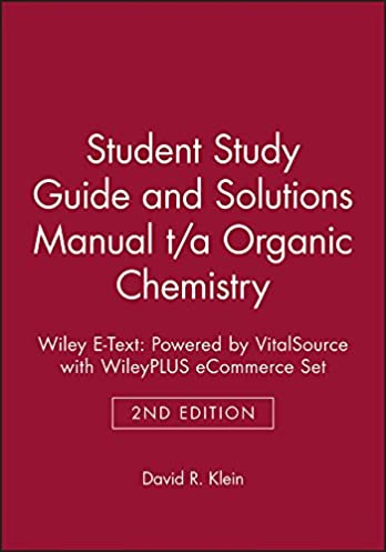 student study guide and solutions manual t a organic chemistry 2e rh amazon ca Wade Organic Chemistry Test Organic Chemistry Chemistry