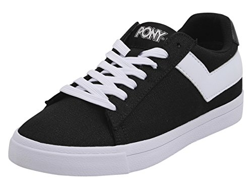 Pony Women's Top-Star-Lo-Core-Canvas Black/White Sneakers Shoes Sz. ()