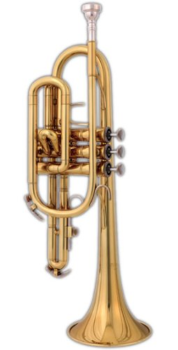 Blessing BCR-1230 Student Cornet, Lacquered Brass