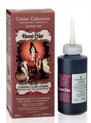 SITARAMA Henné Color - Henna Colouring Cream - Chestnut Grey - Free from oxidants, ammonia, p-phenylenediamine (PPD), resorcinol, synthetic fragrances, and heavy metals