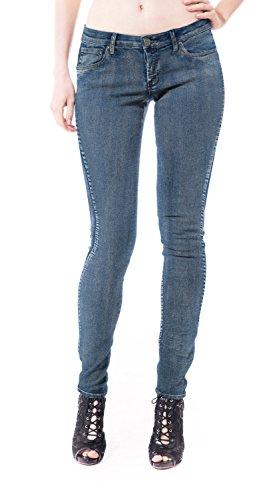 Womens Super comfy stretch denim 5 Pocket Jean P22890SK MEDIUM BLU 5