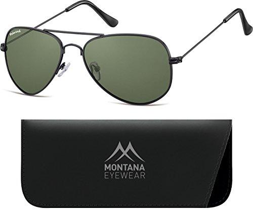 Montana Lenses Matt G15 Black Lunettes Multicolore Mixte de Soleil AHr1A