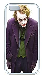 iPhone 5S Case and Cover VUTTOO Heath Ledger Joker 02 TPU Silicone Rubber Case Cover for iPhone 5S - White