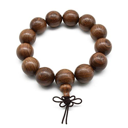Zen Dear Unisex Natural Silkwood Tibetan Buddhism Meditation Prayer Bead Necklace Japa Mala Beads Bracelets (18mm x 13 Beads) by Zen Dear (Image #3)