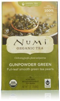Numi Organic Gunpowder Green Count