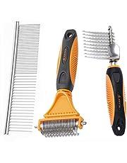 AEXYA - Premium Dog Dematting Tools (Rake + Combs)