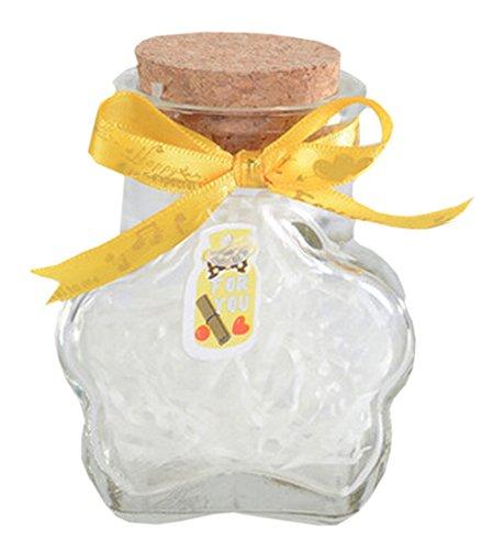 Plum Blossom Bottle (Plum Blossom Creative Wishing Bottle Lucky Bottle Glass Jar with Cork Stopper)