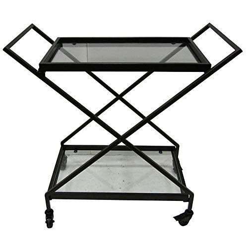 Towels Guest Hospitality - Zipcode Design Outdoor Iron Glass-Top Bar Serving Cart + Free Basic Design Concepts Expert Guide