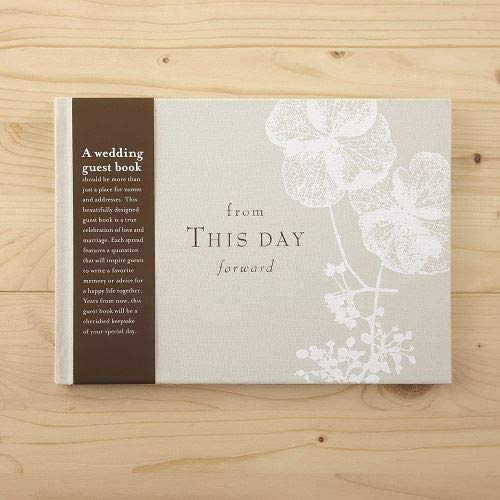 """(From This Day Forward, Hardcover Wedding Guest Book - Lined with Prompts 6.75"""" X 9.5"""" X)"""