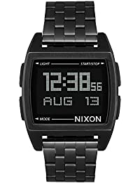 Base A1107-001 Black/Black Stainless Steel Digital Quartz Unisex Watch