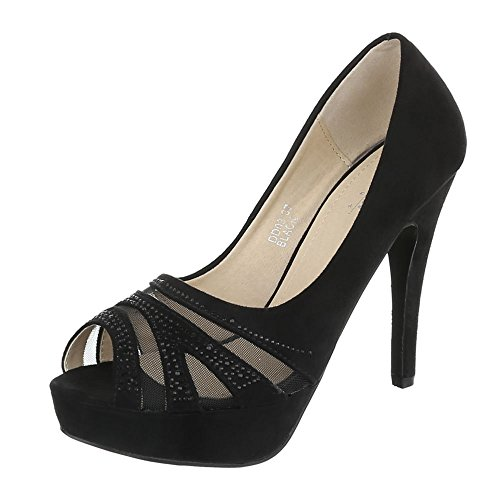 Ital-Design High Heel Pumps Damenschuhe High Heel Pumps Pfennig-/Stilettoabsatz High Heels Pumps Schwarz