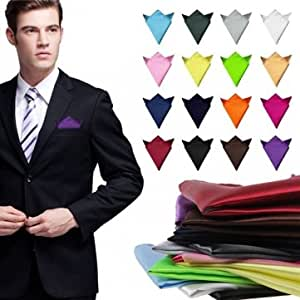 2 piezas traje de satén de seda pañuelo cuadrado pañuelo de ...