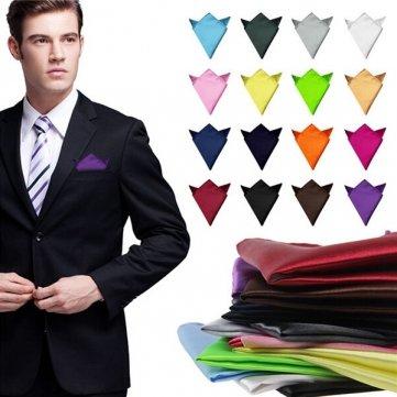 2 piezas traje de seda hombres pañuelo de bolsillo cuadrado ...