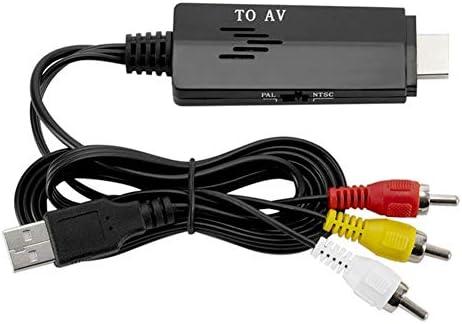 HDからAVへの変換ケーブル、RCA変換ケーブル480 i 576 i TV VHS VCR用男性から男性へのビデオ変換ケーブル