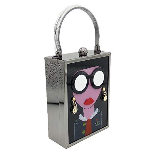 Acrylique Portable Bandoulière Soirée Mode Chaîne Lafayette En Noir Fengbingl couleur Femme À Pour Sac De Noir wqE7PXS