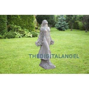 roman goddess statue home garden flora sculpture New