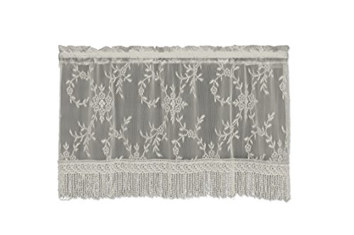 Abbey Valance (Heritage Lace Downton Abbey Yorkshire Valance, 42 by 20-Inch, Flax)