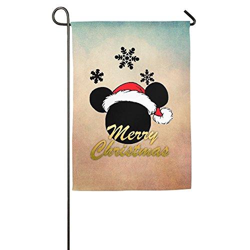 Matthe Merry Christmas Santa Gift Couple Custom Garden - Mickey Mouse Flag