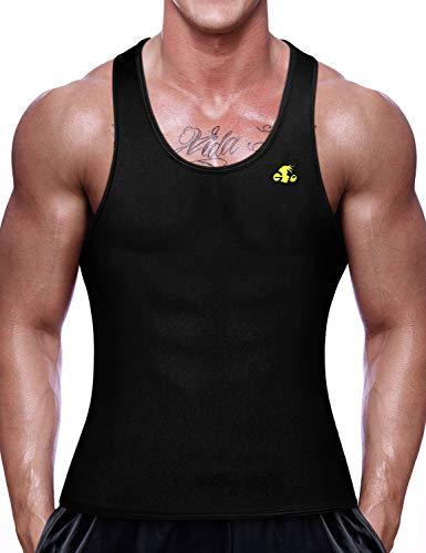 NonEcho Men Sauna Vest Neoprene Sweat Weight Loss Waist Trainer Shirt Workout Tank Top (Fastest Way To Lose Your Love Handles)