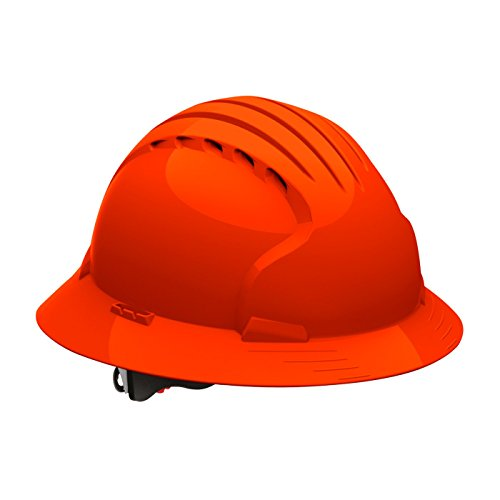 Evolution Deluxe 6161 280-EV6161-10 Full Brim Hard Hat with HDPE Shell