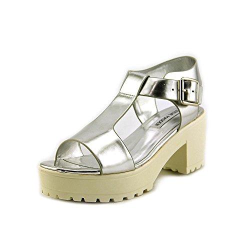 STEVE MADDEN STEFANO - Sandalias con Plataforma para mujer Silver