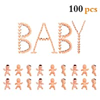 100pcs Mini Plastic Babies for ice Cube Game, Baby Shower, Party Decorations, Baby Toys