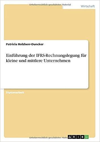 Einführung der IFRS-Rechnungslegung für kleine und mittlere Unternehmen