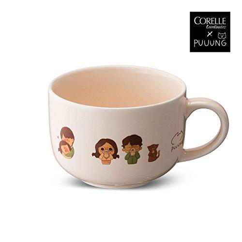 CORELLE Coordinates X PUUUNG HEART Soup Cereal Bowl 1p, 21.6 oz illustration artistic Dish,...