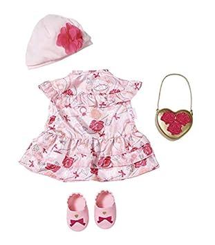 Zapf Creation 702031 Baby Annabell Deluxe Set Blumen 43cm rosa, rot