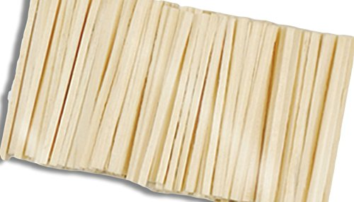 "Durable, Strong & Non-Toxic {2"" Inch} 750 Wholesale Pack of Mini Multi-Purpose Craft Sticks for DIY, Food, Beauty & More, Made of Baltic Birch Wood w/ Rectangle Square Flat Cut Ends {Light (Bridge End Garden)"