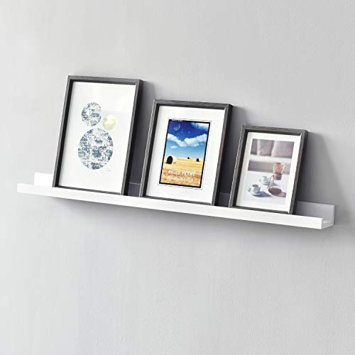 WELLAND Picture Ledge Photo Ledge Floating Wall Shelves, 36-inch, White (Ikea Picture Shelf)