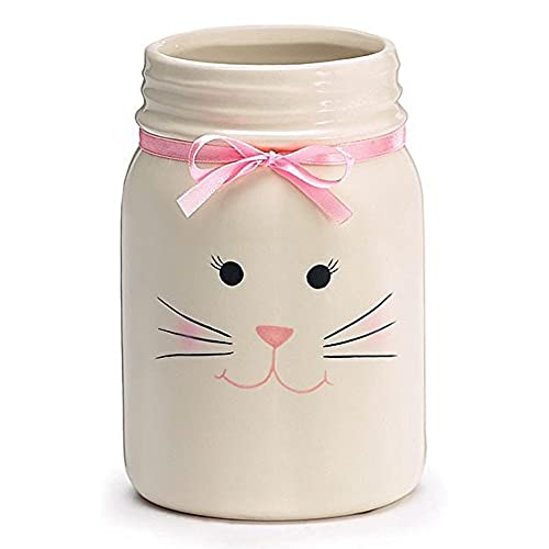 Ceramic easter gifts amazon easter bunny face decorative ceramic mason jar negle Image collections