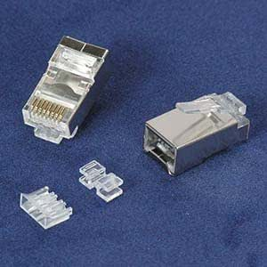 GOWOS RJ45 Cat.5E Shielded Plug Stranded 50 Micron 100pk