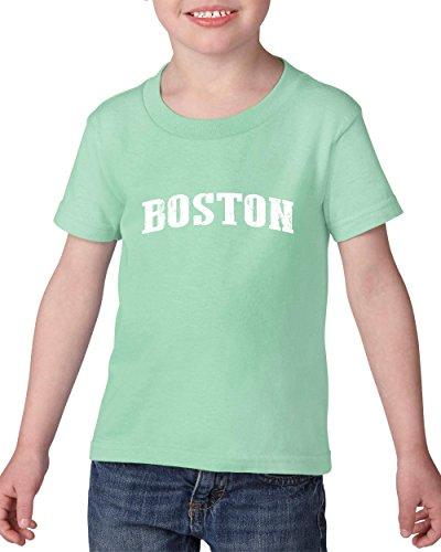 Mom`s Favorite City of Boston Massachusetts State Flag Traveler`s Gift Toddler Heavy Cotton Kids Tee (3TG) Mint -