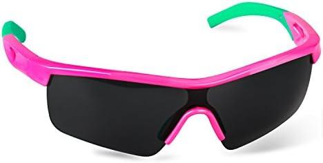 Hicool Lunettes de Soleil Professionnel Polarisée Anti-UV Lunettes de Sport Enfant pour Vélo, Voiture, Course, Équitation, Pilote et d'Autres Sports Outdoor