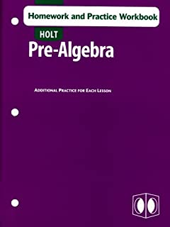 Printables Holt Pre Algebra Worksheets amazon com holt pre algebra 9780030934681 rinehart and winston homework practice workbook